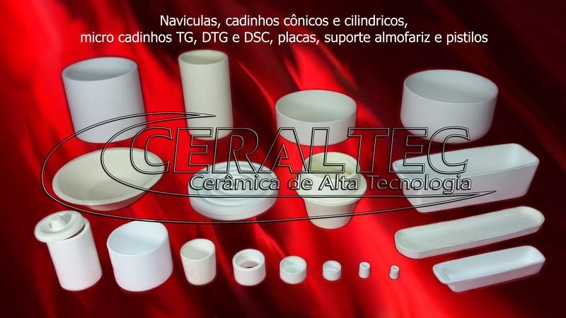 Cadinhos, Navículas, Micro cadinho, Mobilhas para fornos e pirometria